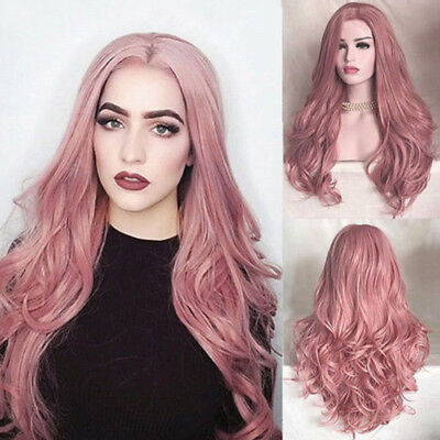 Fashion Women Ladies Synthetic Hair Lace Front Wig Long Wavy Full Wigs Cosplay Z