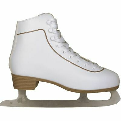 Nijdam Women's Figure Skates Classic Leather Size 42 Skating Boots 0043-WIT-42
