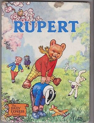 RUPERT ANNUAL 1958 in Good condition, unclipped and belongs to filled in.