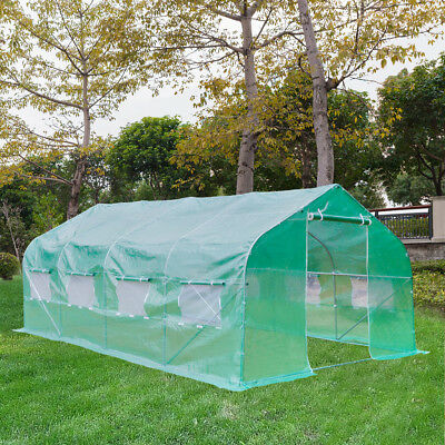 20'x10'x7' Greenhouse Walk-in Hot Green House Plant Gardening/Observation Window