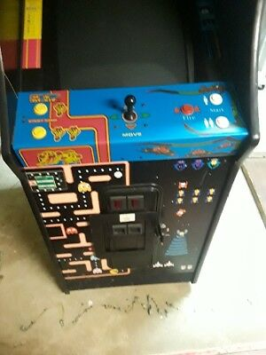 """Ms Pacman Galaga Reunion Arcade Game With 25"""" Monitor"""