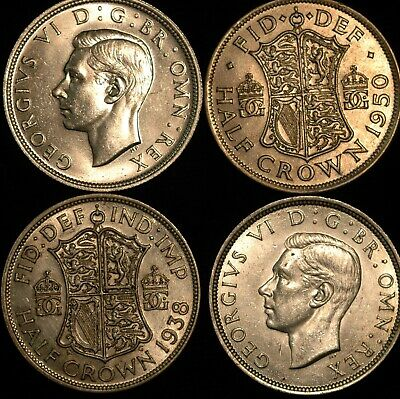 Halfcrown George VI 1937  -  1951 gEF-UNC Choose your Date (T120)