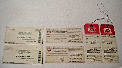 6 Vintage Texaco Gas & Oil Advertising Paper Collectibles ~ All Unused ~ L@@k !