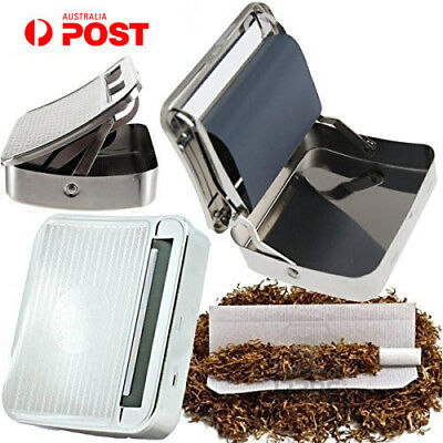 Metal Automatic Cigarette Tobacco Roller Roll Rolling Machine Box Case Tin AY