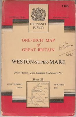 One-Inch Map of Great Britain Sheet 165 Weston-Super-Mare :