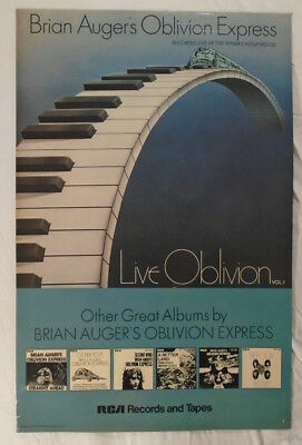 Brian Auger's Oblivion Express 1974 Promo Poster Live At Whisky Hollywood