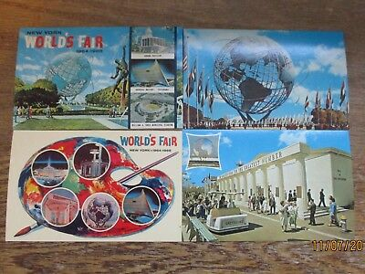 New York Worlds Fair (7) postcards 1964-1965