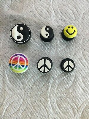 Yin & Yang Jibbitz Peace Sign Jibbitz Smiley Jibbitz Rainbow Peace Shoe Charm