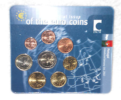 "Portugal 2002  --  Sonder - Kms   "" First Official Issue Of The Euro Coins  """