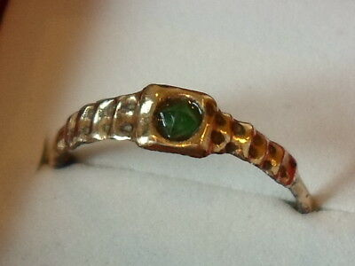Mega X-Mas Sale,detector Find, 200-400 A.d Roman Ae Ring With 100% Real Emerald