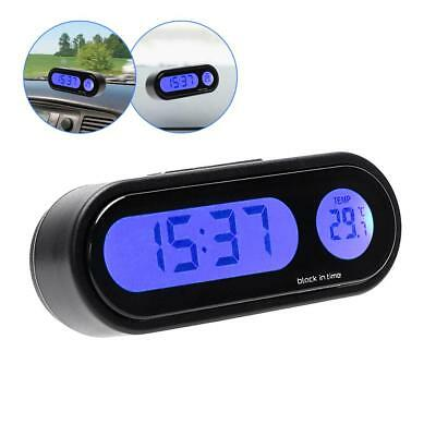12V LCD Digital LED Car Electronic Time Clock Thermometer With Backlight Fine *