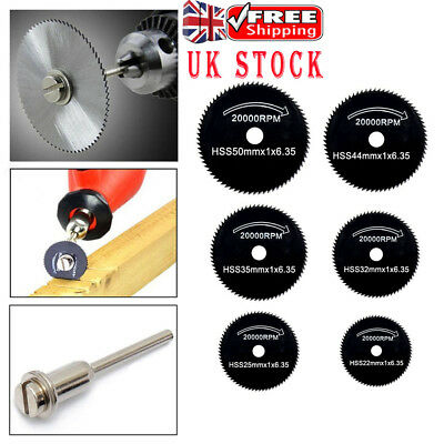 6X Hss Saw Disc Kit For Mini Drill Rotary Tool Cutting Wheel Discs Blade 22-50Mm