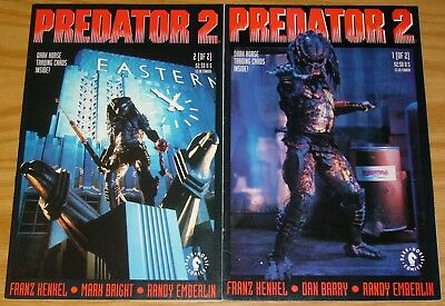 Predator 2 #1-2 FN/VF complete series - dark horse comics - adapts movie set lot