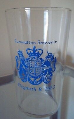 1953 QEII Coronation Glass Beaker - Nice Collectable!