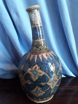 C.18thC ANTIQUE ISNIK PERSIAN MIDDLE EAST ISLAMIC ARABIC POTTERY OTTOMAN VASE