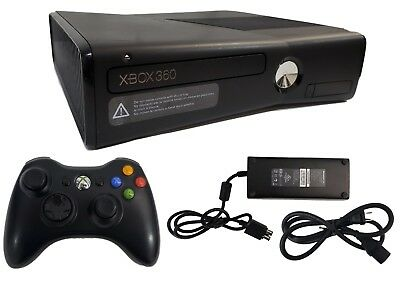 Microsoft Xbox 360 S Slim Edition 250GB Black 1439 Gaming Console + Controller