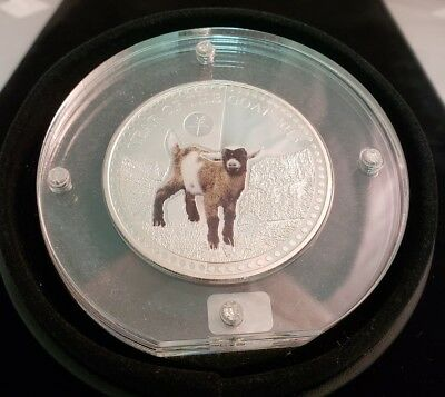 2015 Benin 1000 Francs Year of the Goat Haptic Proof 1oz Silver Coin