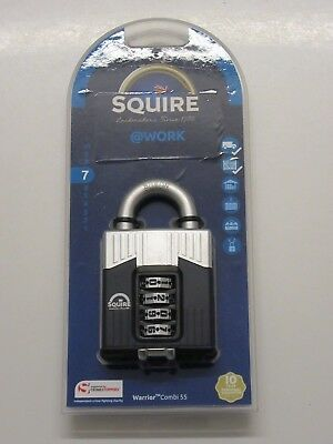 Squire Warrior Combi 55 High Security Coded Recodable Padlock - BRAND NEW