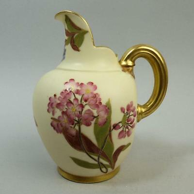 Antique Royal Worcester Ivory Porcelain Flat Back Jug C.1880