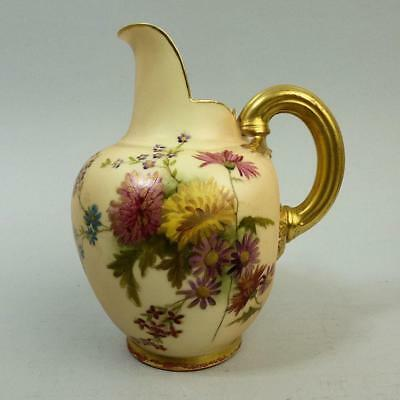 Antique Royal Worcester Blush Ivory Porcelain Flat Back Jug C.1901