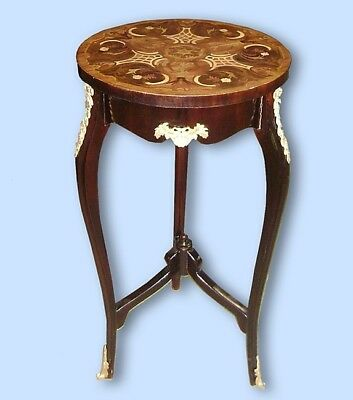 Fine Louis XV style Marquetry ornate side table