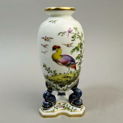 Antique Graingers Royal Worcester Hand Painted Porcelain Vase C.1900