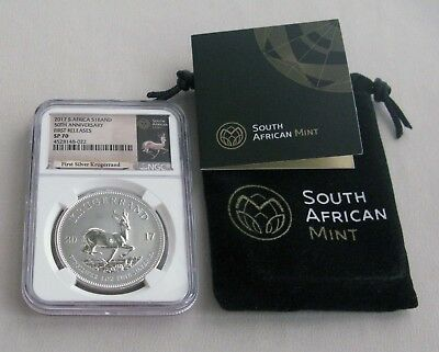 2017 South Africa $1 Krugerrand 50th Anniversary First Releases NGC SP 70;G134