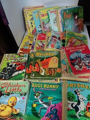 HUGE lot of 58 Whitman Rand Mcnally Tell a Tale Cardboard Picture Books