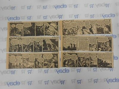 Lot of 6 Terry and The Pirates Comic Strips July 2nd-7th, 1945