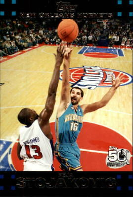 e90980ad8fb 2007-08 Topps New Orleans Hornets Basketball Card #26 Peja Stojakovic