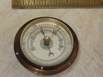 Very Small Old Aneroid Barometer Insert Movement Etc - Working Fine (Sm1)