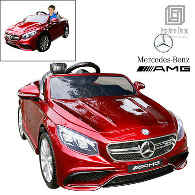Licensed Mercedes Benz AMG S63 Kids Ride On Car With Remote Control 12V