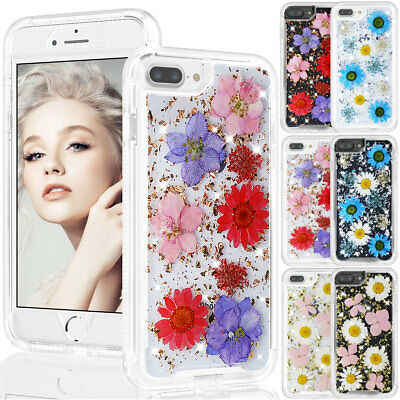 For Apple iPhone 7 8 Plus Women Cute Hard Rugged Shockproof Floral Case Cover