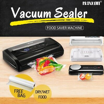 Maxkon Food Saver Vacuum Sealer Machine Kitchen Storage Meat Vegetable Packaging
