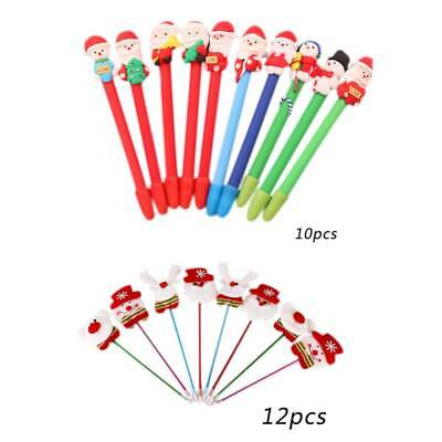 Christmas Santa Claus Ballpoint Pen Office School Stationery Supplies Kids Gift