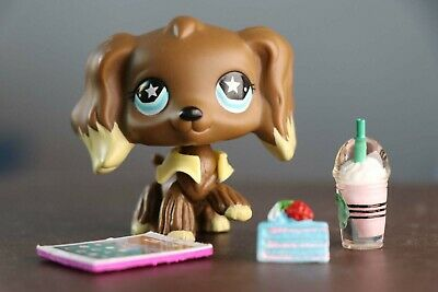 Authentic Littlest Pet Shop LPS Cocker Spaniel Dog #960 + Accessories Rare Gift