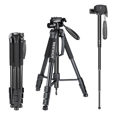 Neewer Portable Aluminum Alloy Camera Tripod Monopod for Canon Nikon Sony DSLR