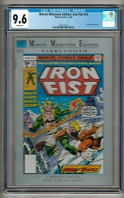 Marvel Milestone Edition: Iron Fist #14 (1992) CGC 9.6  White Pages