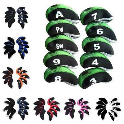 10pcs Neoprene Golf Iron Head Covers TaylorMade Callaway Ping School Shop Gift