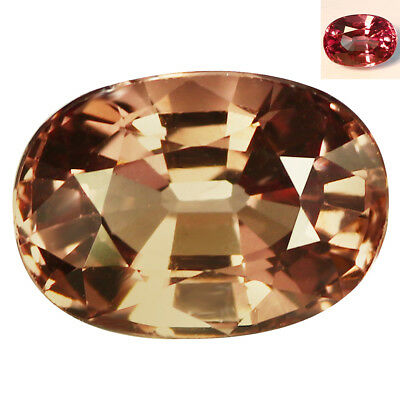 2.37Ct IF Tremendous Oval Cut 9 x 6 mm AAA Full Color Change Garnet