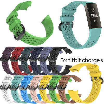 Replacement Wristband Band for Fitbit Charge 3 Fitness Premium Strap L/S New