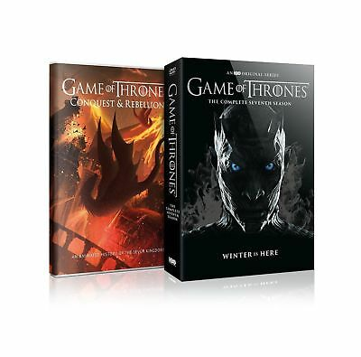 Game of Thrones Season 7 DVD (5 Discs) Bonus Disc Conquest & Rebellion