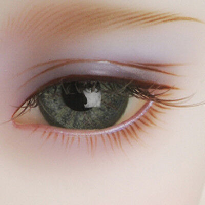 HM02 Dollmore MSD Doll Eyes 14mm Classic Flat Back Oval Glass Eyes