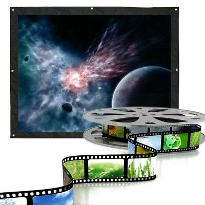 72-120 Inch 4:3 Front & Back Rear Projection Screen Curtains Film for Projector