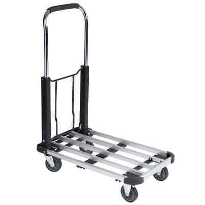 Toolland Folding Hand Truck Aluminium 150kg Trolley Handcart Dolly QT105AL