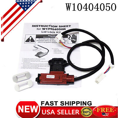 W10404050 Washer Door Latch Assembly Kit Lid Lock Switch For Whirlpool Kenmore
