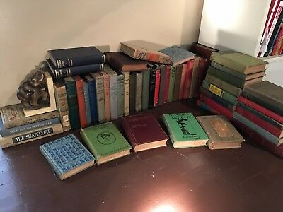 Lot 10 Antique Collectible Vintage Old Rare Hard To Find Books mixed variety  HC