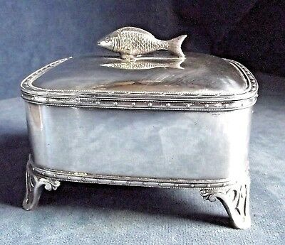 SUPERB ~ SILVER Plated ~ Butter / Caviar / Sardine DISH ~ c1900 by Joseph Rogers