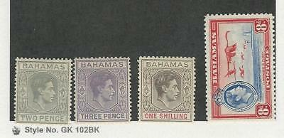 Bahamas, Postage Stamp, #103, 105A, 108, 110 Mint Hinged, 1938-46, JFZ