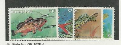 Bahamas, Postage Stamp, #615-617, 618A Used, 1986-87 Fish, JFZ